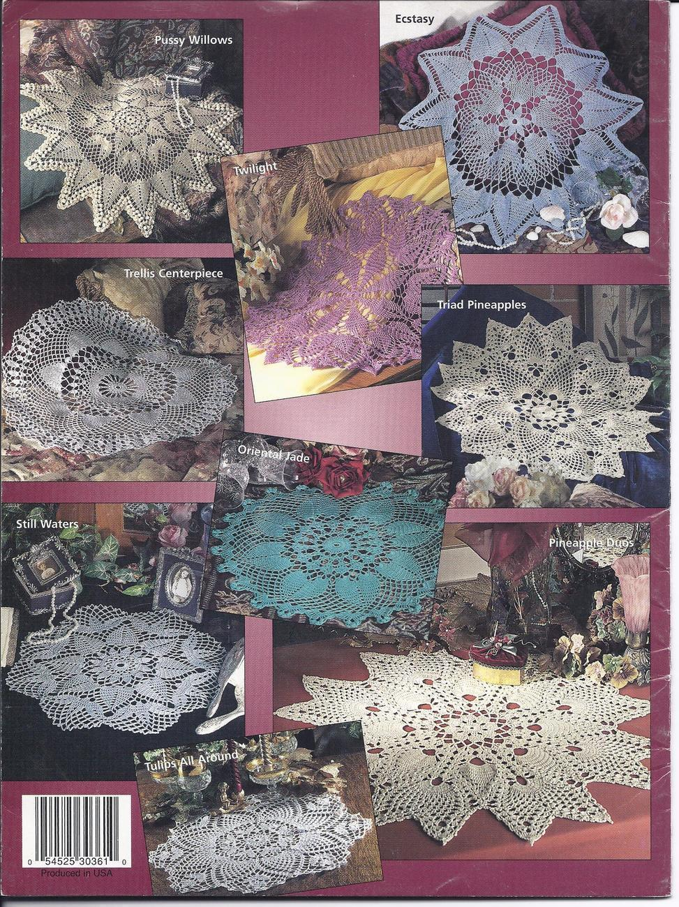 Elegant Pineapple Doilies Crochet and 50 similar items