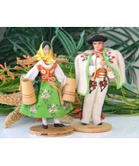 Vintage Polish Folk Dolls Highlander Woman Man ... - $17.95