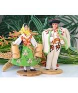 Vintage Polish Folk Dolls Highlander Woman Man Pair Lalki Poland - $17.95