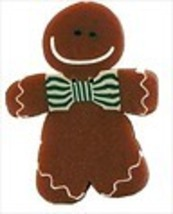 """Tiny Fred Gingerbread Boy 4457t handmade button .5"""" JABC Just Another Bu... - $1.80"""