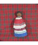 Vintage Folk Art Thread Doll, Bonnet, Old - $9.49