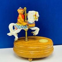 Carousel horse music box figurine statue Willitts teddy bear Favorite Th... - $48.15