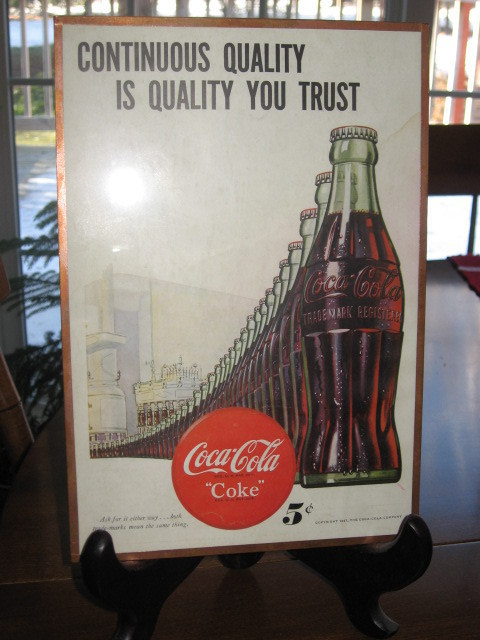 Primary image for 1947 Coca-Cola Original Magazine Ad in Frame-10 X 7