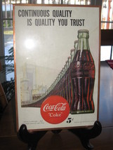 1947 Coca-Cola Original Magazine Ad in Frame-10 X 7 - $9.50