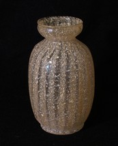 "Dugan Japanese 6"" tall Rib Optic Art Glass Sake Bottle with Amber Frit S... - $116.88"