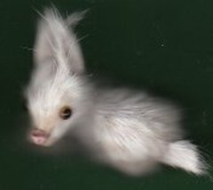 SMALL FURRY WHITE BUNNY RABBIT - $5.00
