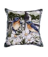 """17"""" BLUEBIRD Bird Floral Tapestry Cushion Pillow  - $25.00"""