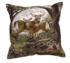 """17"""" DEER Buck Doe Fawn Tapestry Cushion Pillow  - $25.00"""