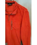 Rossignol Fleece Orange Gray Trim Pullover Sweater Jacket Mens L Euro XL... - $49.49