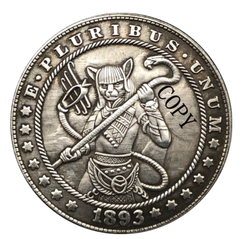 Primary image for Hobo Nickel 1893- S USA Morgan Dollar Egyptian Goddess COPPY COIN For Gift