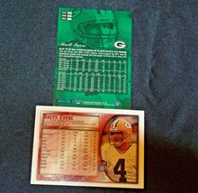 Brett Farve # 4 Green Bay Packers QB Football Trading Cards AA-19 FTC3002 Vintag image 5
