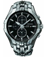 Seiko Men's SSC139 Excelsior Gunmetal and Silver-Tone Stainless Steel So... - $439.00