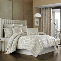 New J. Queen New York Kingsgate 4 Piece Queen Comforter Set Ivory - $272.24