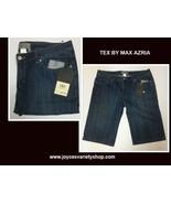Women's Blue Pintuck Crop Shorts Sz 31 Tex by Max Azria - $13.99