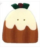 "Plum Pudding 4473 handmade clay button .87"" JAB... - $2.00"