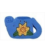 Blue Watering Can 4479 handmade clay button 1.1... - $2.50