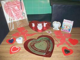 VALENTINE'S LOT HEARTS MIRRORS PORCELAIN FRAME CANDLE TRINKET BOXES CRAF... - $15.00