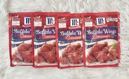 Lot Of 4 Mccormick Buffalo Wings Original Seasoning Mix 1.6 Oz Packets - $18.95