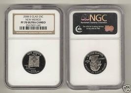 2008 S Clad 25¢ New Mexico PF70 Quarter Coin U.C. NGC