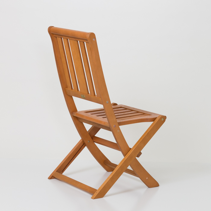 Armless Folding Chair,  Eucalyptus Patio Furniture Dining Collection