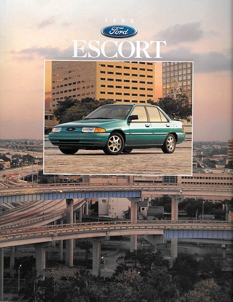 Primary image for 1996 Ford ESCORT sales brochure catalog 96 US LX GT