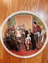 "Gorham Norman Rockwell ""The Annual Visit"" 10 1/2"" Collector Plate - 1980 #11337 - $14.84"