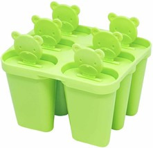Popsicle Molds, Set of Six with Cute Little Bear Handles image 1