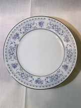 "SONE/FINE CHINA OF JAPAN DIANE BLUE FLORAL/PLATINUM 6½"" BREAD PLATES - S... - $24.75"