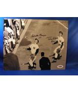TONY KUBEK & CLETE BOYER 1961 YANKEES SIGNED 8X10 PSA/DNA - $249.99