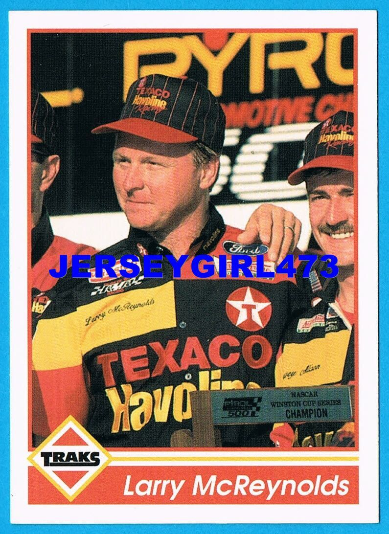 Larry McReynolds 1992 TRAKS NASCAR Racing Card #184