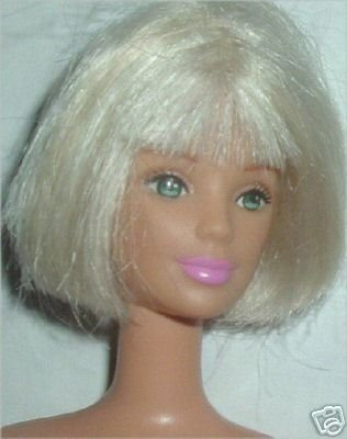 BARBIE Doll Platinum BOB closed mouth nude STUNNING