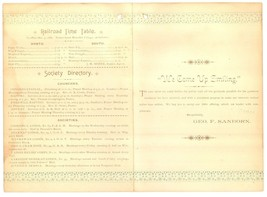 Sanborn Meredith Village NH 1888 advertising booklet antique vintage eph... - $9.00
