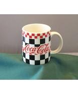 Checkered Coca Cola 11 Oz Coffee Mug By Gibson 1997 VGC - $6.00