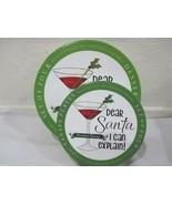 Certified International CHRISTMAS Martini Ceramic Desert or Salad Plates  - $27.99