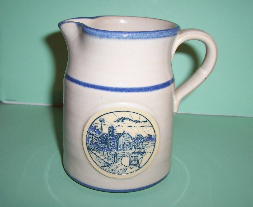 "Primary image for Deneen Pottery 1988 Special Edition Pitcher ""Sunrise Farm Sc"