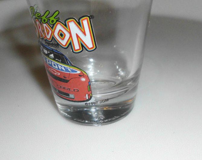 1997 Jeff Gordon Nascar Dupont Monte Carlo Shot Glass