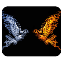 Mouse Pads Abstract Art Beautiful Bird Angel & Demon Nature Animation Mousepads - $6.00