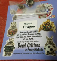 VINTAGE DRAGON BEAD CRITTERS BEAD WRAP BY PENNY MICHELLE 1995 SILVERTONE image 6