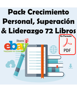 Pack Crecimiento Personal, Superación & Liderazgo 72 Libros DIGITAL DESC... - $6.00