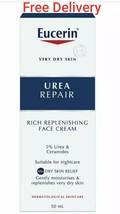 Eucerin Urea Repair Replenishing NIGHT Face Cream 50ml New & Free Delivery - $18.59