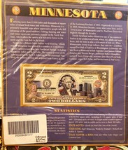 Minnesota $2 Two Dollar Bill Colorized Uncirculated Authentic  - $21.80