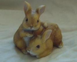 Homco Pair of Bunnies Figurine Home Interiors 1455 - $6.00