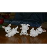 Homco 3 White Bunnies 1454 Rabbits Home Interiors - $12.99