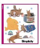 Simplicity 5233 Cat Beds Fish Mouse Pillow Sack Pattern - $12.99