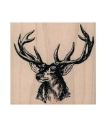 Mounted Rubber Stamp, Deer Head, Buck, Deer, Wildlife, Stag, Outdoors, H... - $11.08