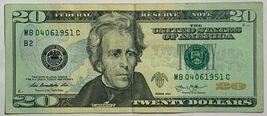 $20 Dollar Bill FRN Series 2013 Birthday Anniversary Note 04-06-1951 04061951 Ap image 2