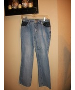 Juniors No Boundaries NoBo Lace Pocket Jeans Sz 9 Boot Cut - $1.99
