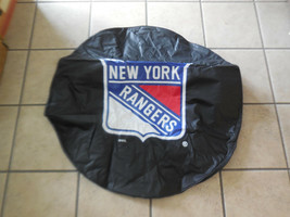 35 x 12.5 IN. New York Rangers HBS Black Vinyl Fitted Spare Tire Cover image 1