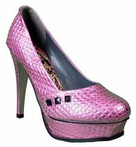 Iron Fist Women's Pink Studs Number of the Beast High Heels Platform Shoes NIB