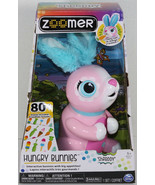 Spinmaster ZOOMER HUNGRY BUNNIES SHREDDY Pink INTERACTIVE RABBIT Toy EAS... - $31.18